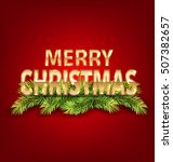 illustration merry christmas... | Shutterstock .eps vector #507382657
