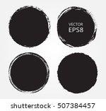 grunge circles round frames.... | Shutterstock .eps vector #507384457
