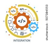 web  api  integration sign.... | Shutterstock .eps vector #507384553