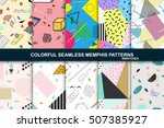 collection of vector abstract... | Shutterstock .eps vector #507385927