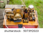 the old telegraph. the ancient... | Shutterstock . vector #507392023