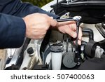 car mechanic with wrench. | Shutterstock . vector #507400063