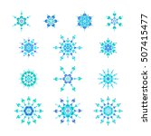 set vector icons blue... | Shutterstock .eps vector #507415477