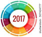 2017 calendar  print template...   Shutterstock .eps vector #507424777
