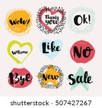 colorful various vector labels... | Shutterstock .eps vector #507427267