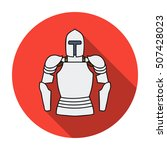 plate armor icon in flat style...   Shutterstock .eps vector #507428023