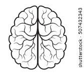 black   white human brain... | Shutterstock .eps vector #507432343