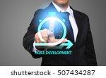 businessman working with modern ... | Shutterstock . vector #507434287