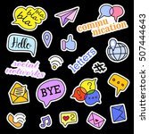 fashion patch badges. social... | Shutterstock . vector #507444643