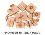 christmas background with... | Shutterstock . vector #507450613