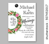wedding invitation printable...   Shutterstock .eps vector #507452017