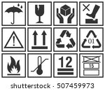 cargo packing symbols set  ... | Shutterstock .eps vector #507459973