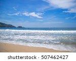 beach in ixtapa. pacific ocean. ... | Shutterstock . vector #507462427