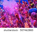 holi indian festival of colors. ... | Shutterstock . vector #507462883