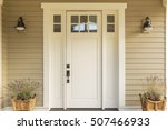 close up of a front door with... | Shutterstock . vector #507466933