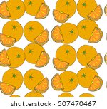 oranges on a white background.   Shutterstock .eps vector #507470467