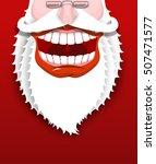 jolly santa claus. joyful...   Shutterstock . vector #507471577
