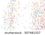 colorful explosion of confetti. ... | Shutterstock .eps vector #507481537