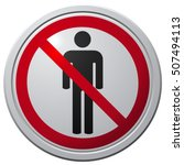 no people allowed sign  vector... | Shutterstock .eps vector #507494113