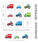 logical test. the logical task... | Shutterstock .eps vector #507496153