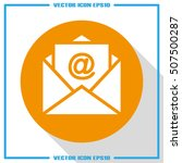 email icon vector eps 10 ... | Shutterstock .eps vector #507500287