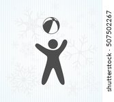 child plays ball | Shutterstock .eps vector #507502267