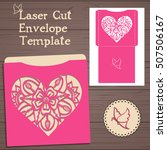 lasercut vector wedding... | Shutterstock .eps vector #507506167