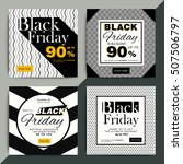 black friday creative social... | Shutterstock .eps vector #507506797