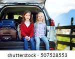 two adorable little sitting in... | Shutterstock . vector #507528553