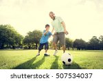 soccer football field father... | Shutterstock . vector #507534037