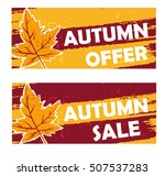 autumn offer and sale   yellow... | Shutterstock . vector #507537283