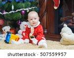 little beautiful baby in... | Shutterstock . vector #507559957