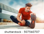 young male jogger athlete... | Shutterstock . vector #507560707