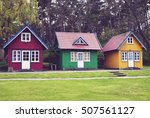 three empty colorful summer... | Shutterstock . vector #507561127
