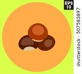 chestnut icon in trendy flat...