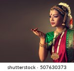 beautiful indian girl dancer of ... | Shutterstock . vector #507630373