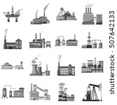 factory icons set. gray... | Shutterstock .eps vector #507642133