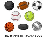 sport balls. isolated vector... | Shutterstock .eps vector #507646063