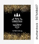 christmas and new year banners... | Shutterstock .eps vector #507648607