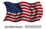 american national official flag.... | Shutterstock . vector #507653257