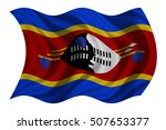 swazi national official flag.... | Shutterstock . vector #507653377