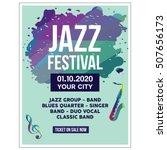 jazz festival poster templates | Shutterstock .eps vector #507656173