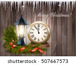 christmas background with a... | Shutterstock .eps vector #507667573