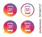 qr code sign icon. scan code... | Shutterstock .eps vector #507682717