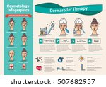 vector illustrated set with... | Shutterstock .eps vector #507682957