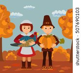 thanksgiving day children... | Shutterstock .eps vector #507690103