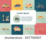 transportation and vehicle... | Shutterstock .eps vector #507700507