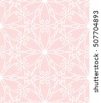 seamless white lace pattern on... | Shutterstock . vector #507704893