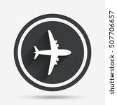 airplane sign. plane symbol.... | Shutterstock .eps vector #507706657