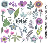 vector graphic set with... | Shutterstock .eps vector #507731497